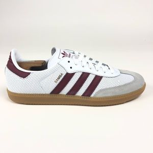 Adidas Samba OG Cloud White Burgundy Shoes BD7528